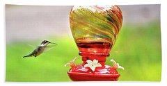 The Flight Of The Hummingbird Beach Sheet