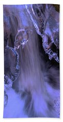 The Flow Of Winter-2 Beach Towel by Sean Sarsfield