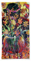 The Flower Arranger Beach Towel