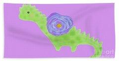 The Flower Dinosaur  Beach Towel
