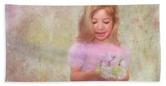 Beach Towel featuring the mixed media The Flower Princess by Colleen Taylor