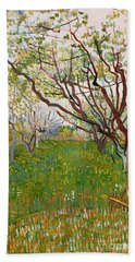 The Flowering Orchard, 1888 Beach Towel by Vincent Van Gogh