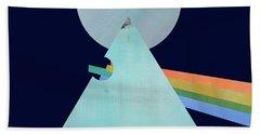 The Floyd's Dark Side Beach Sheet by Jacquie Gouveia