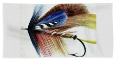 Beach Towel featuring the digital art The Fly by Steve Taylor