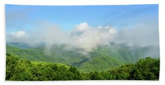 Beach Sheet featuring the photograph The Fog Rises Over The Bluestone Gorge - Pipestem State Park by Kerri Farley