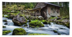The Forgotten Mill Beach Towel by JR Photography