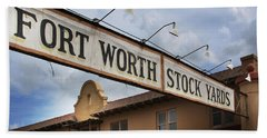 The Fort Worth Stock Yards Beach Towel
