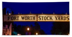 The Fort Worth Stockyards District Beach Towel