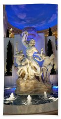 The Forum Shop Statues At Ceasars Palace Beach Sheet