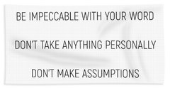 The Four Agreements #minismalism #shortversion Beach Towel