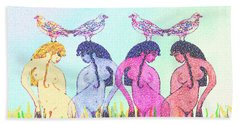 The Four Daughters Of Eve  -aka-  Four Rivers Beach Towel