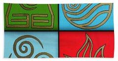 The Four Elements Beach Towel