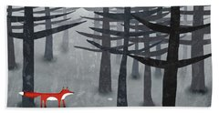 The Fox And The Forest Beach Towel