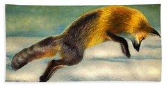 The Fox Hop Beach Towel