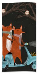 The Fox Mobile Beach Towel