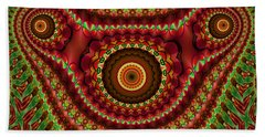 The Fractal Beast Beach Towel by Thibault Toussaint