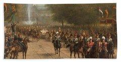 The Frederiksplein Amsterdam  During The Entry Of Queen Wilhelmina 5 September 1898 Beach Towel