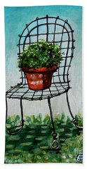 The French Garden Cafe Chair Beach Towel