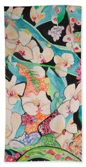 The Gallery Of Orchids 1 Beach Towel