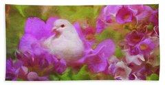 The Garden Of White Dove Beach Sheet