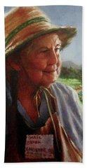 The Gardener Beach Sheet by Janet McGrath