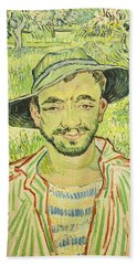 The Gardener Or Young Peasant Beach Towel