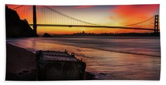 The Gate Of Gold  Beach Towel