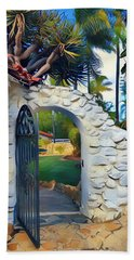 The Gate To Paradise Beach Towel