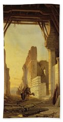 The Gates Of El Geber In Morocco Beach Towel by Francois Antoine Bossuet