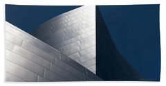 Beach Towel featuring the photograph The Geometry Of Disney Hall by Lorraine Devon Wilke