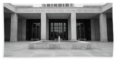 The George W. Bush Presidential Library And Museum  Beach Towel by Robert Bellomy