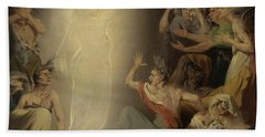 The Ghost Of Clytemnestra Awakening The Furies Beach Towel