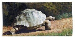 The Giant Tortoise Is Walking Beach Sheet