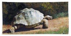 The Giant Tortoise Is Walking Beach Sheet