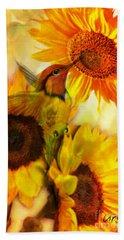 The Gift Of Joyfulness Beach Towel by Maria Urso