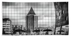 Beach Towel featuring the photograph The Glass Windows Of The Market Hall In Rotterdam by RicardMN Photography