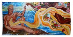 The Goddess Beach Towel