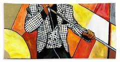 The Godfather Of Soul James Brown Beach Sheet by Everett Spruill