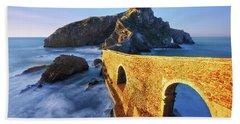 The Golden Bridge Beach Towel