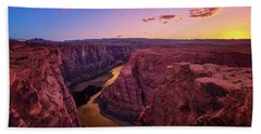 Beach Towel featuring the photograph The Golden Canyon by Edgars Erglis