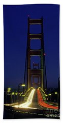 The Golden Gate Bridge Twilight Beach Sheet