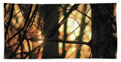 Beach Towel featuring the photograph The Golden Hour by Bruce Patrick Smith