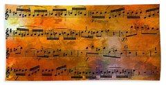 The Golden Music Of Motzart Beach Towel