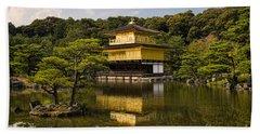 The Golden Pagoda In Kyoto Japan Beach Sheet