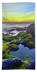 Beach Towel featuring the photograph The Golden Skies Of Molokai by Tara Turner