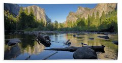 The Golden Valley Beach Towel by JR Photography