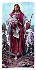 The Good Shepherd 1878 Bernhard Plockhorst Beach Towel