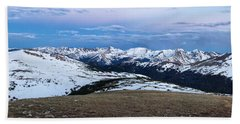 The Gore Range At Sunrise - Rocky Mountain National Park Beach Towel by Ronda Kimbrow