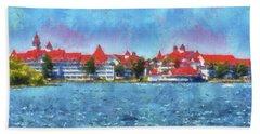 The Grand Floridian Resort Wdw 03 Photo Art Mp Beach Towel