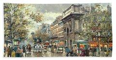 The Grands Boulevards- Porte St. Martin And Porte St. Denis Beach Towel